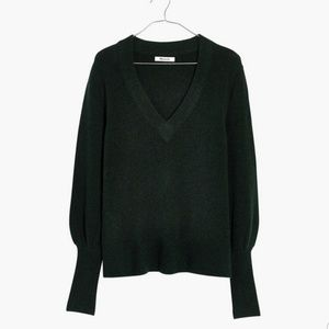 NWT Madewell Dashwood V-neck Sweater Coziest Yarn